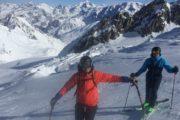 skiing on gebroulaz glacier